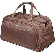 Дорожня сумка середня FILIPPINI три колеса 62х33х38 коричнева ксТ0045корср, фото 2