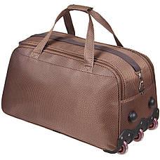 Дорожня сумка середня FILIPPINI три колеса 62х33х38 коричнева ксТ0045корср, фото 3