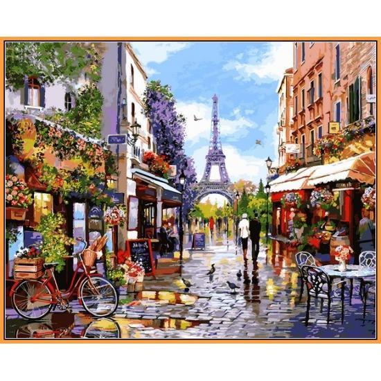 Картина по номерам NB1243 Цветущий Париж, 40x50 см., Babylon Premium