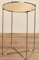 Декоративный журнальный столик шампань h51см, лофт дизайн квартиры