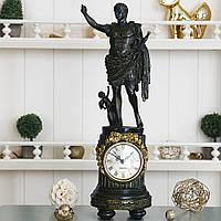Часы каминные настольные старинные с фигурой Императора Октавиана, VIP подарок