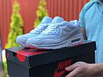 Мужские кроссовки Nike Air Max 90 (белые) 9486, фото 2