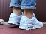Мужские кроссовки Nike Air Max 90 (белые) 9486, фото 3