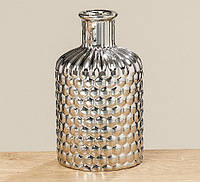 Ваза Даниель бутылка серебрянная керамика h17см 1009840-1 бут