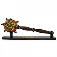 Булава деревянная сувенирная на подставке средняя 46 см