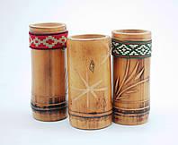 Бамбуковый стакан с орнаментом.