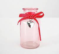 Декоративная розовая ваза Роза h12 cm 1011448-2 роз (20542)