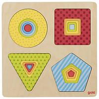 Развивающий многослойный пазл Goki геометрические фигуры