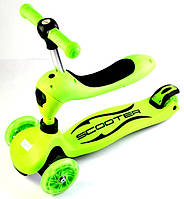 Детский самокат-трансформер Scale Sports 2 в 1 Green