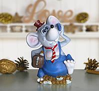 Копилка мышка банкир 10*15*7 см 026 A 030A (20715)