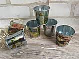 Декоративное металлическое ведро, h-5 см., 25/20 (цена за 1 шт. + 5 гр.), фото 3