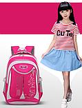 Рюкзак школьный серо-розовый Chaoynsu, фото 2