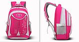 Рюкзак школьный серо-розовый Chaoynsu, фото 3