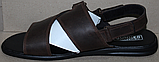 Босоножки мужские кожаные от производителя модель АМБ04, фото 2