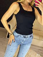 Женская майка из трикотажа рибаны с квадратным вырезом 76mfu304, фото 1
