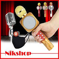 Беспроводной микрофон Wster WS-1816 / караоке микрофон + Маска в подарок в подарок!