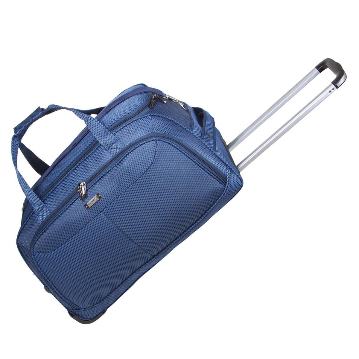 Дорожня сумка середня FILIPPINI три колеса висувна ручка 62х33х38 синя ксТ0045синср