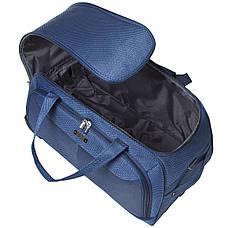 Дорожня сумка середня FILIPPINI три колеса висувна ручка 62х33х38 синя ксТ0045синср, фото 3
