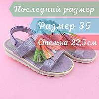 Літні босоніжки, підліткові дівчинці на танкетці бренд Томм р. 35, фото 1