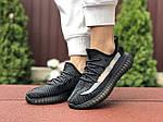 Женские кроссовки Adidas Yeezy Boost 350 (черно-серые) - 9421, фото 4