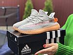 Женские кроссовки Adidas Yeezy Boost 350 (серо-персиковые) - 9423, фото 4