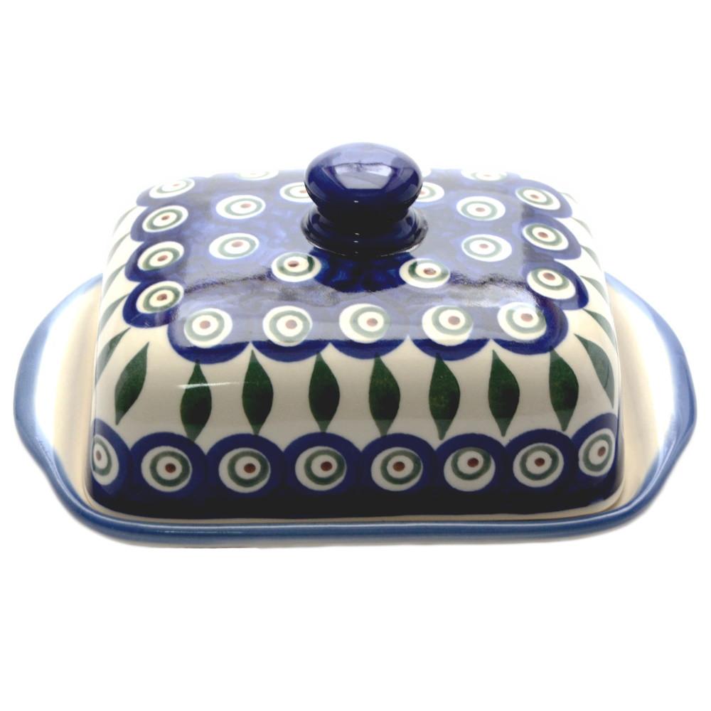 Керамическая масленка Перо Павлина