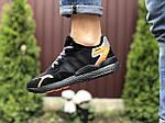 Мужские кроссовки Adidas Nite Jogger Boost 3M (черно-оранжевые) 9428, фото 2