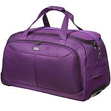 Дорожная сумка FILIPPINI большая  67х38х43 три колеса, выдвижная ручка фиолетовый цвет ксТ0045фб, фото 2
