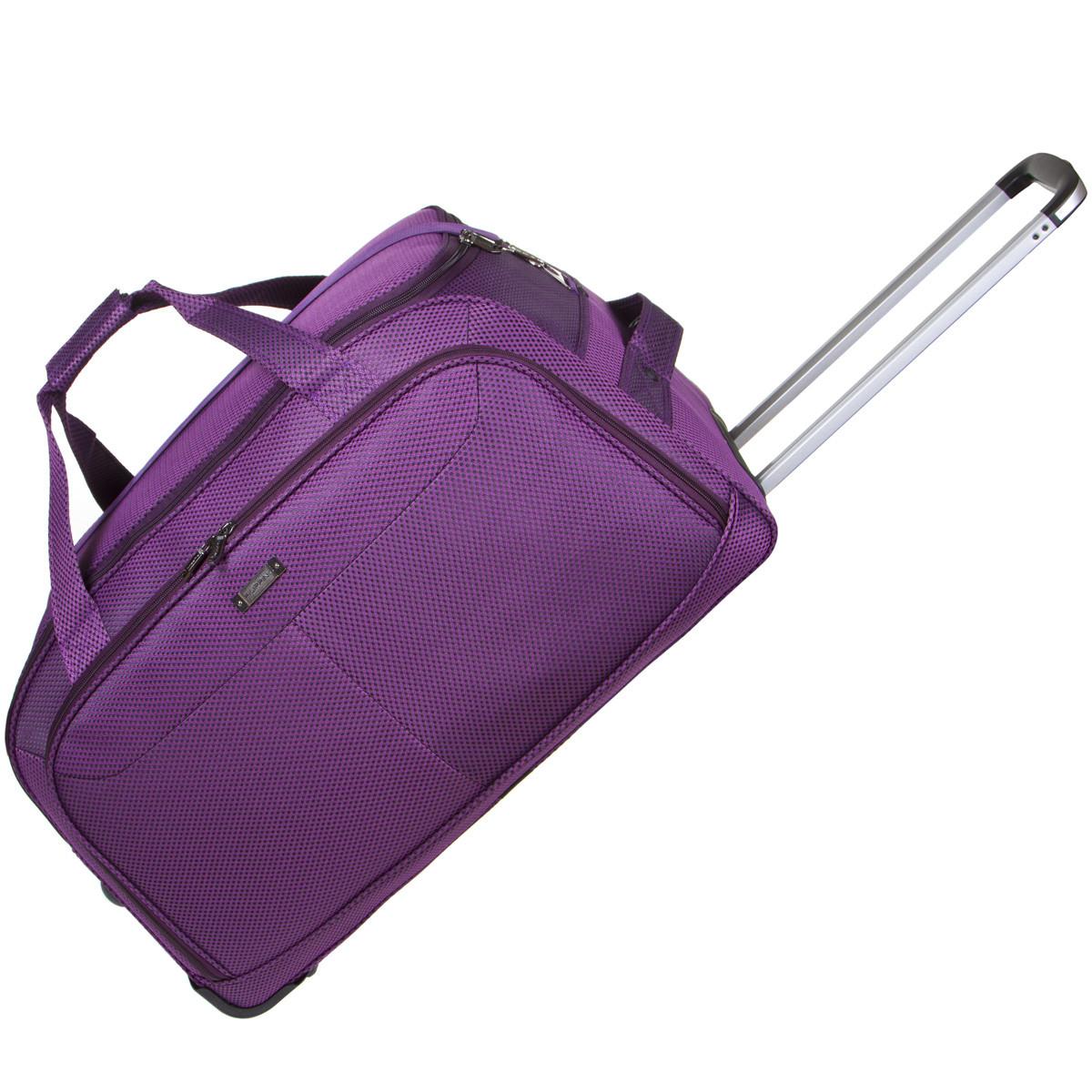 Дорожная сумка FILIPPINI большая  67х38х43 три колеса, выдвижная ручка фиолетовый цвет ксТ0045фб