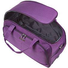 Дорожная сумка FILIPPINI большая  67х38х43 три колеса, выдвижная ручка фиолетовый цвет ксТ0045фб, фото 3