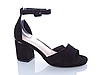 Босоножки черные на устойчивом каблуке Еко-Кожа открытый носок с закрытой пяткой 36,40 Размер, фото 2