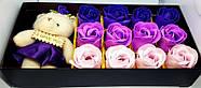 Мыло из роз с мишкой  Подарок для девушки, мыло ручной работы, фото 2