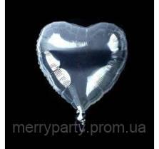 """Шар BUBBLE сердце прозрачный 18"""" (45 см)"""