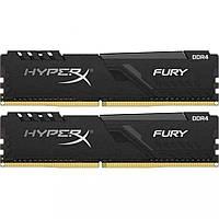 Оперативная память для компьютера DDR4 16GB (2x8GB) 3200 MHz HyperX FURY Black Kingston HX432C16FB3K2/16 (U0376139)