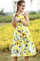 Сарафан с принтом лимонов  Dolce Gabbana. Люкс качество (L размер)