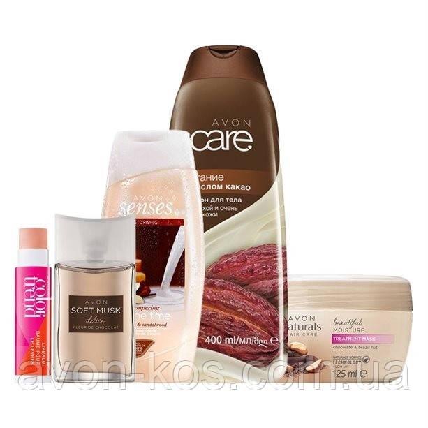 Парфюмерно- косметический подарочный набор «Шоколадно-ванильное наслаждение»