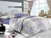 Двуспальный комплект постельного белья евро 200*220 сатин (12377) TM КРИСПОЛ Украина