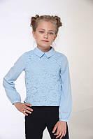 Шифоновая блузка для девочки Lukas 7225, цвет голубой