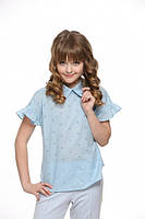 Блузка для девочки Lukas 5229, цвет голубой