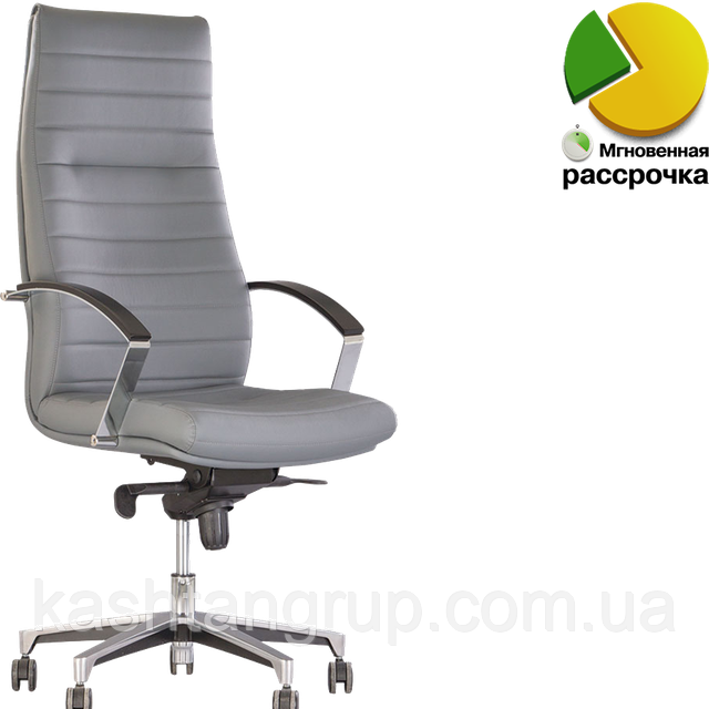 Кресло IRIS steel MPD AL70 Шкіра LUX