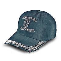 Женская джинсовая бейсболка со стразами, кепка  Denim