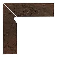 Клинкерная плитка Paradyz Semir brown плинтус двухэлементный левый 30*8,1