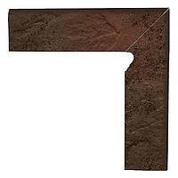 Клинкерная плитка Paradyz Semir brown плинтус двухэлементный правый 30*8,1
