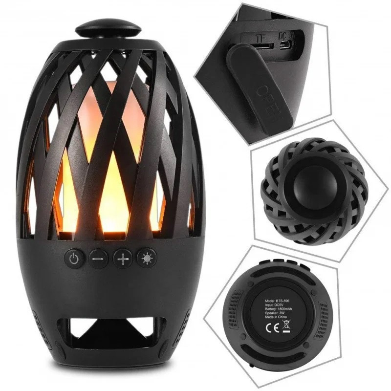 Портативна колонка Flame Atmosphere Wireless Speaker BTS-596