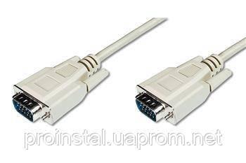 Кабель ASSMANN VGA (HDDB15M/M) 5.0m, white