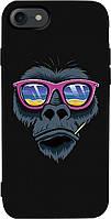 Чехол-накладка TOTO Matt TPU 2mm Print Case Apple iPhone 7/8 #67 Monkey Glass Black