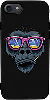 Чехол-накладка TOTO Matt TPU 2mm Print Case Apple iPhone 7/8 #67 Monkey Glass Black