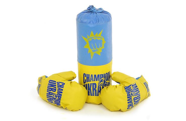 """Боксерский набор  груша и перчатки для детей  4-6лет  """"Украина"""" 0005DT"""