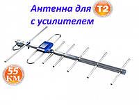 Наружная антенна Eurosky Фаворит/Favorit с усилителем (55 км) для цифрового ТВ-Т2 DVB-T2