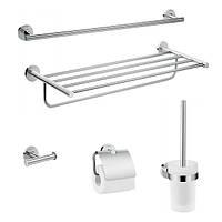 Набор аксессуаров для ванной комнаты Logis Universal  5в1 хром